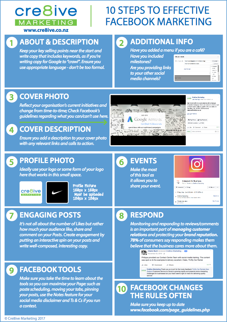 Cre8ive's Facebook Guide