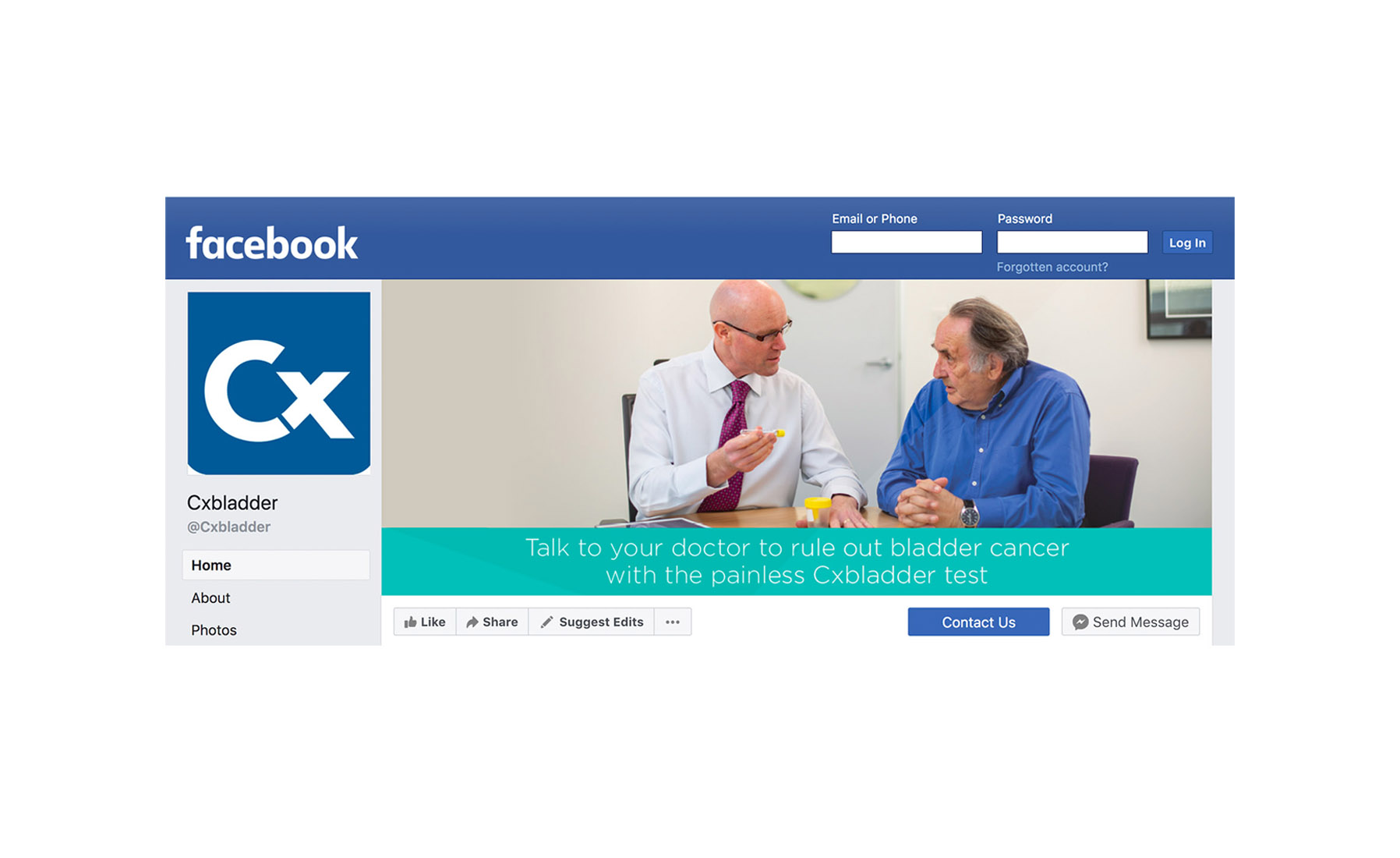 Facebook Cover Cxbladder Design by Cre8tive Dunedin